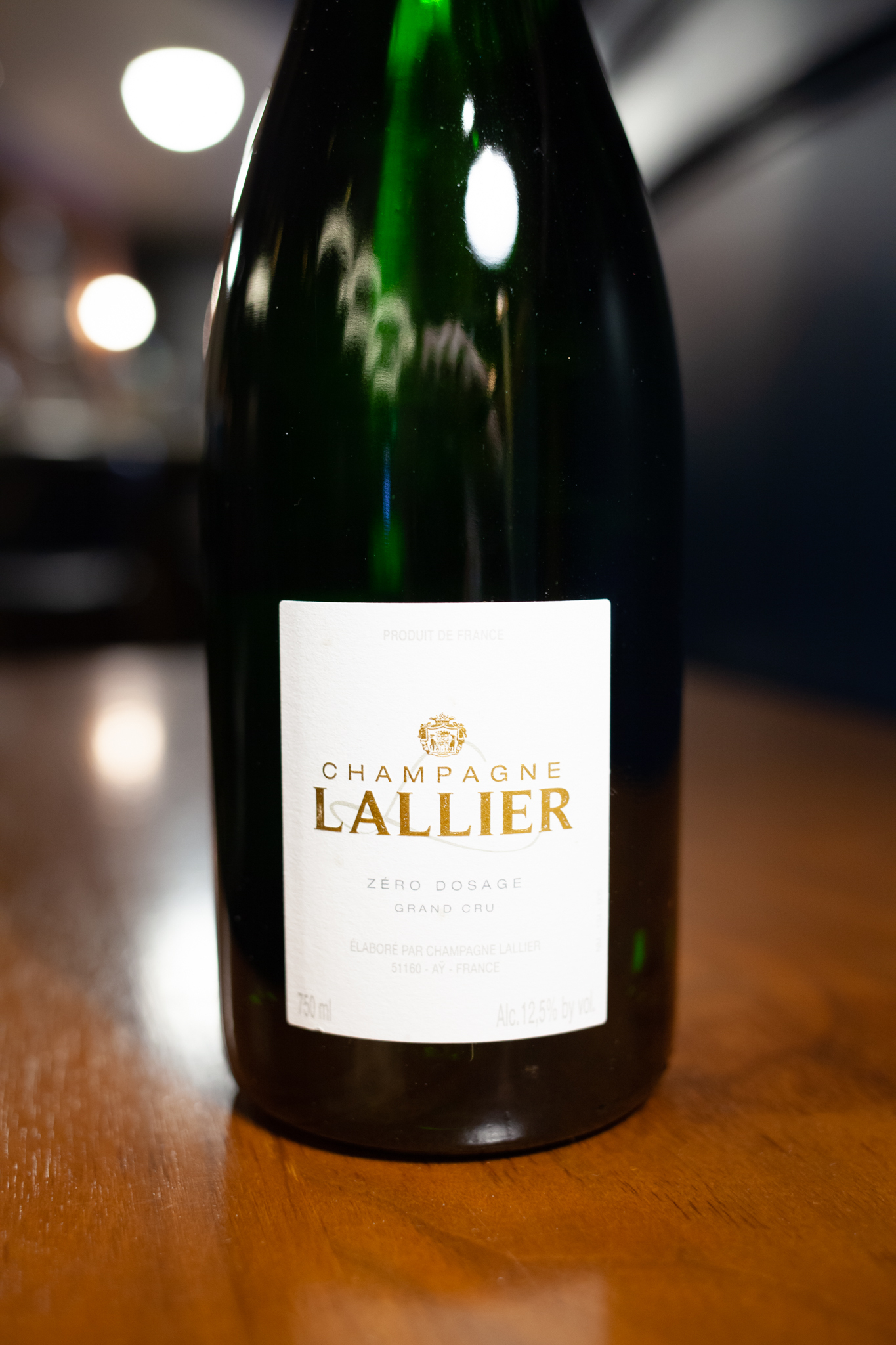 Champagne Lallier 'Zero Dosage,' NV
